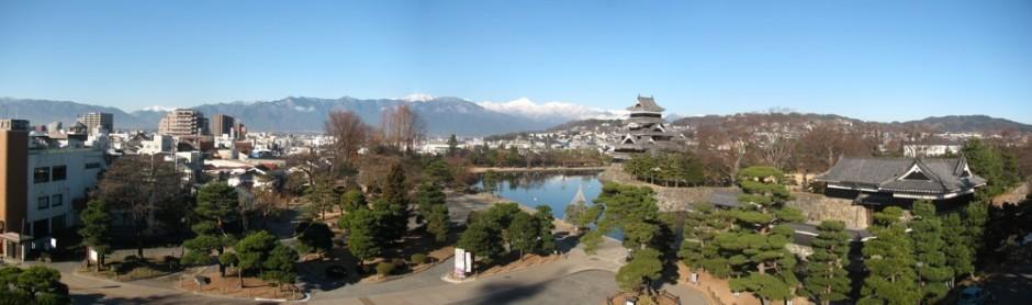 博物館から松本城3